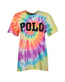 Polo Ralph Lauren Womens Multicoloured Big Polo Tye Dye T Shirt