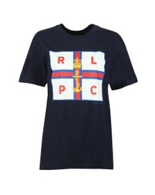 Polo Ralph Lauren Womens Blue Crown Flag T Shirt