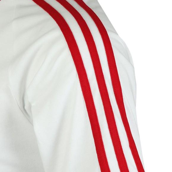adidas Originals Mens White 3 Stripes Tee main image