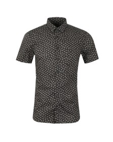 BOSS Mens Black Casual Magneton Short Sleeve Shirt