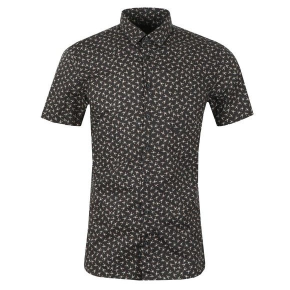 BOSS Mens Black Casual Magneton Short Sleeve Shirt