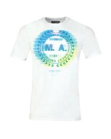 Marshall Artist Mens White Molecular Graphic T-Shirt