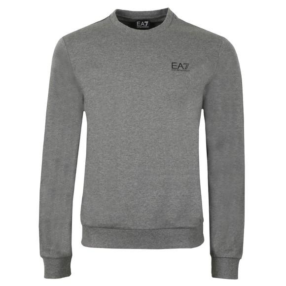 EA7 Emporio Armani Mens Grey Small Rubber Logo Sweatshirt main image