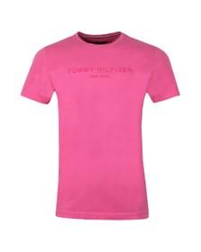 Tommy Hilfiger Mens Pink Garment Dye Logo Tee