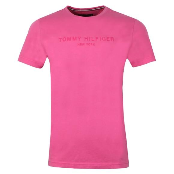 Tommy Hilfiger Mens Pink Garment Dye Logo Tee main image