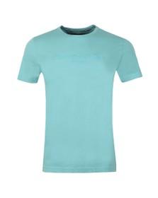 Tommy Hilfiger Mens Blue Garment Dye Logo Tee