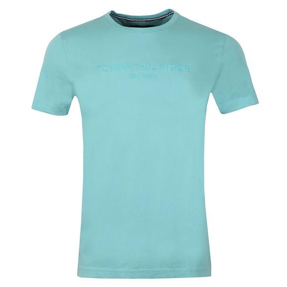 Tommy Hilfiger Mens Blue Garment Dye Logo T-Shirt main image