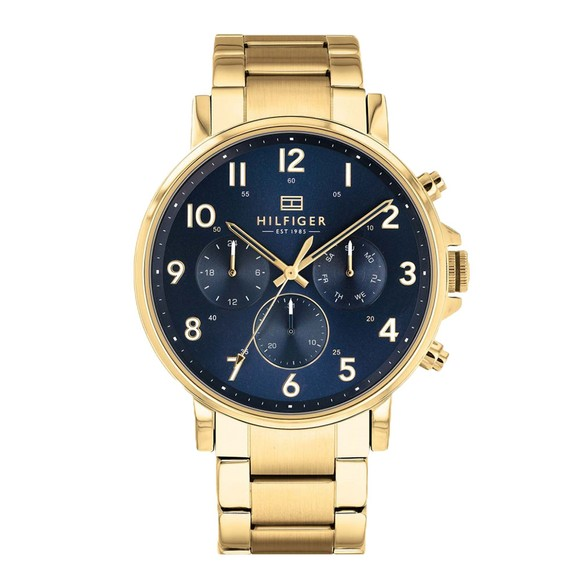 Tommy Hilfiger Mens Gold 1710384 Watch main image