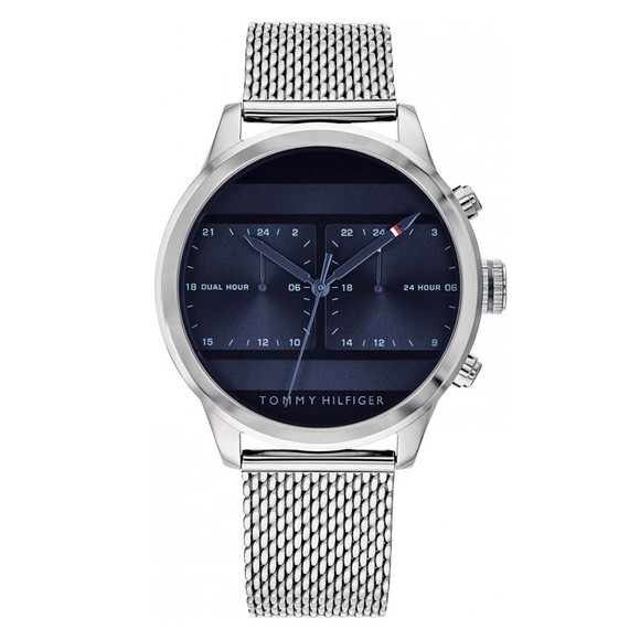 Tommy Hilfiger Mens Silver 1791596 Watch main image