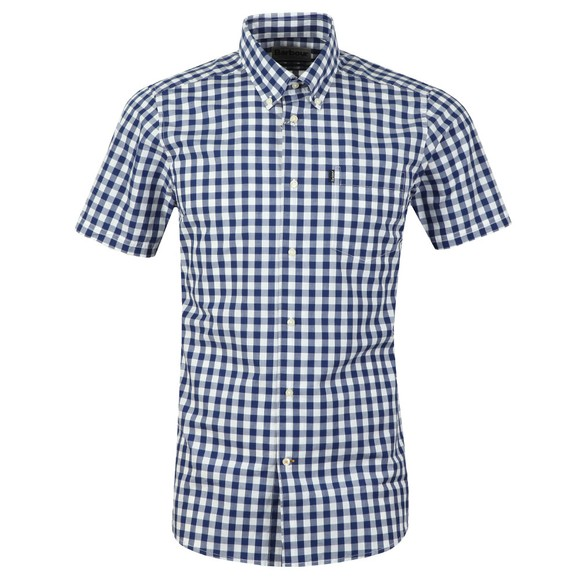 Barbour Lifestyle Mens Blue SS Gingham Shirt main image