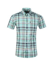 Barbour Lifestyle Mens Turquoise SS Madras Shirt