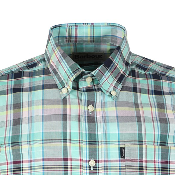 Barbour Lifestyle Mens Turquoise SS Madras Shirt main image