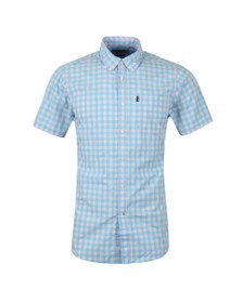 Barbour Lifestyle Mens Pink SS Gingham Shirt