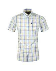 Barbour Lifestyle Mens Yellow S/S Tattersall Shirt