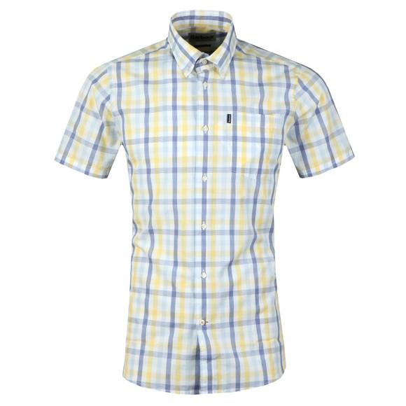 Barbour Lifestyle Mens Yellow S/S Tattersall Shirt main image