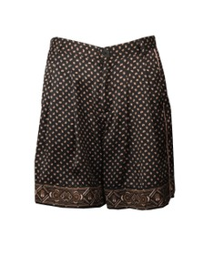 Maison Scotch Womens Black Printed Pyjama Shorts