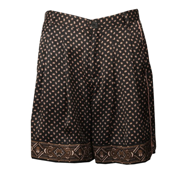 Maison Scotch Womens Black Printed Pyjama Shorts main image