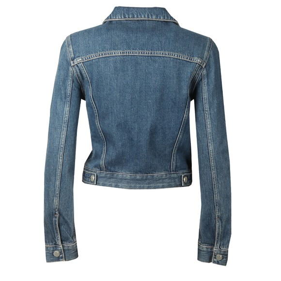 French Connection Womens Blue Micro Western Denim Jacket main image