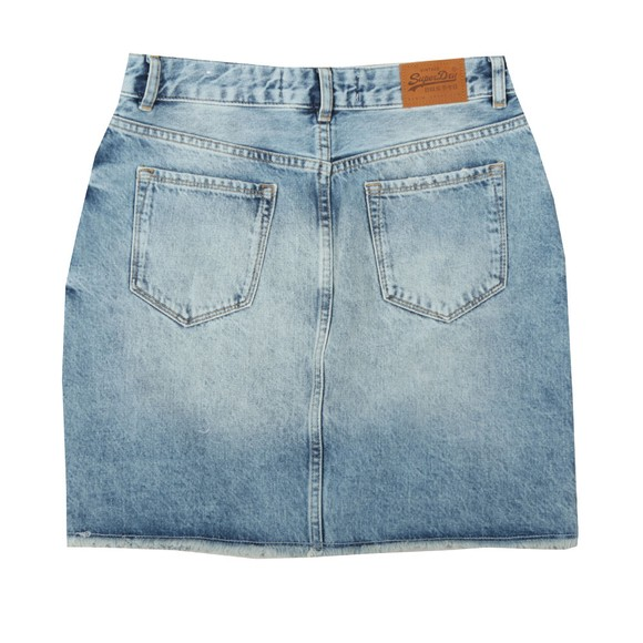 Superdry Womens Blue Denim Mini Skirt