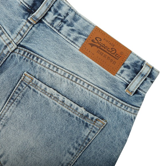 Superdry Womens Blue Denim Mini Skirt main image