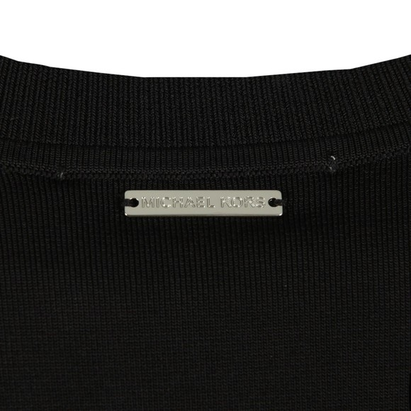 Michael Kors Womens Black MK Stripe Sleeve Crew Sweat main image