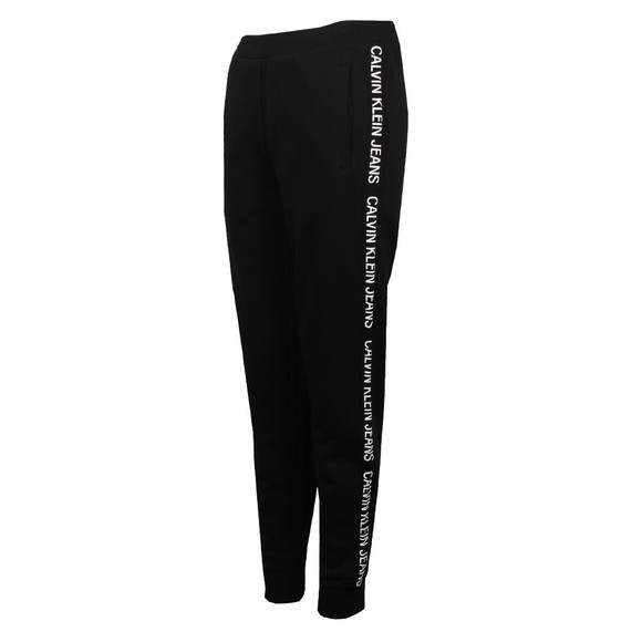 Calvin Klein Jeans Womens Black Institutional Side Logo Jogger main image
