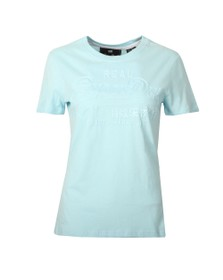 Superdry Womens Blue Vintage Logo Tonal Entry Tee
