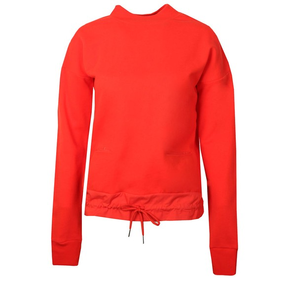Maison Scotch Womens Red Drawstring Waist Sweater