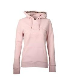 Superdry Womens Pink Vintage Logo Deboss Entry Hoody