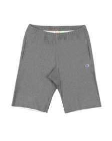Champion Reverse Weave Mens Grey Small Logo Jersey Short