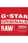 G-Star Mens Red Graphic Logo Tee