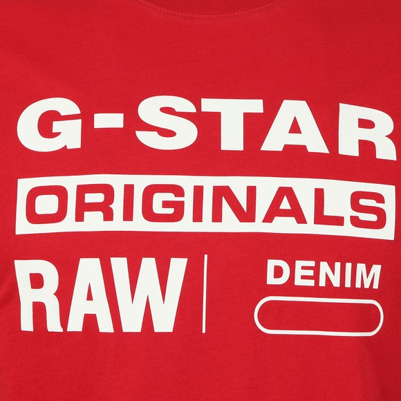 G-Star Mens Red Graphic Logo T-Shirt main image
