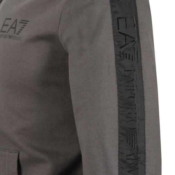 EA7 Emporio Armani Mens Grey Shoulder Logo Full Zip Hoody main image