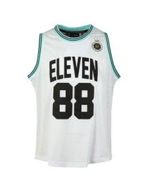 Eleven Degrees Mens White Basketball Vest