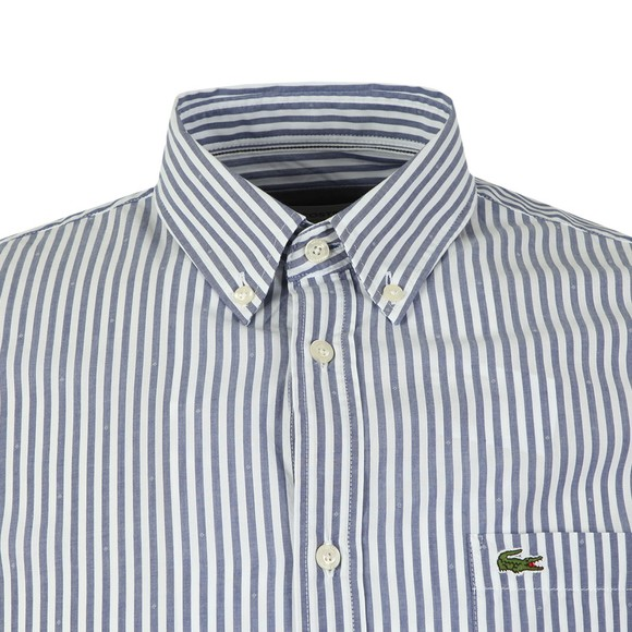 Lacoste Mens Blue L/S CH5636 Stripe Shirt main image