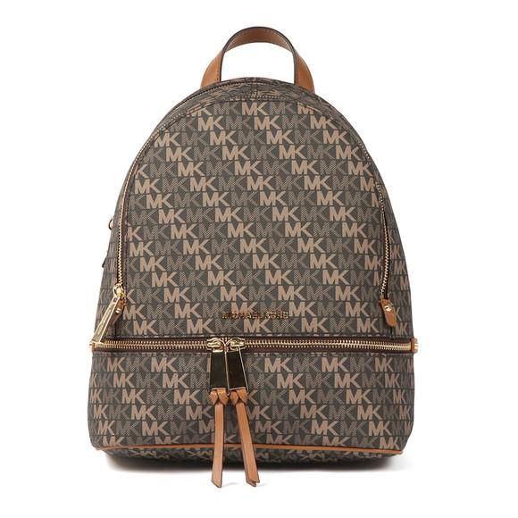 Michael Kors Womens Brown Rhea Zip Backpack main image