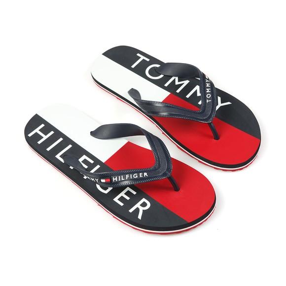 Tommy Hilfiger Mens Blue Print Flip Flops main image