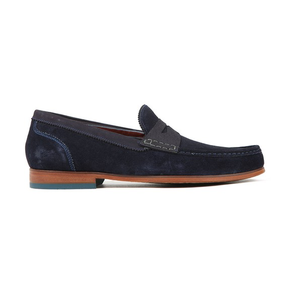 Ted Baker Mens Blue Saddle Loafer