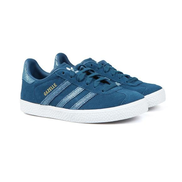 adidas Originals Girls Blue Gazelle Trainer main image