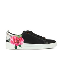 Ted Baker Womens Black Rialy Printed Tennis Trainer
