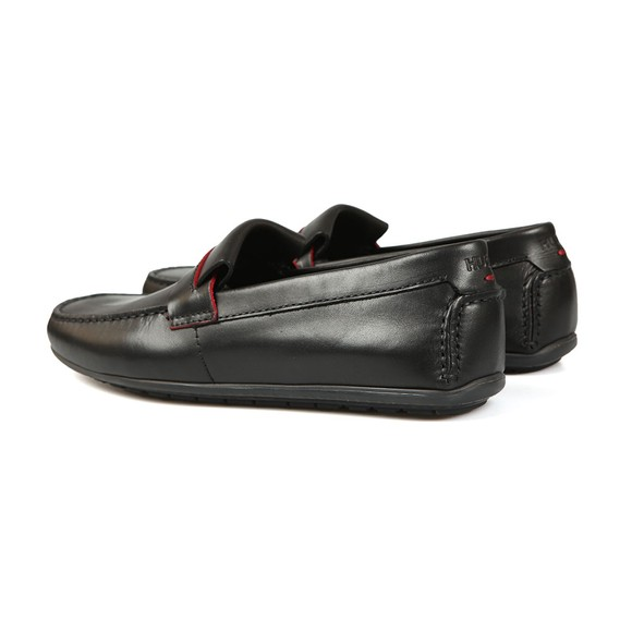 HUGO Mens Black Dandy Leather Moccasin main image