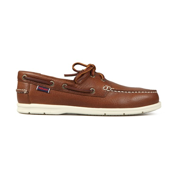 Sebago Mens Brown Naples Leather Boat Shoe main image