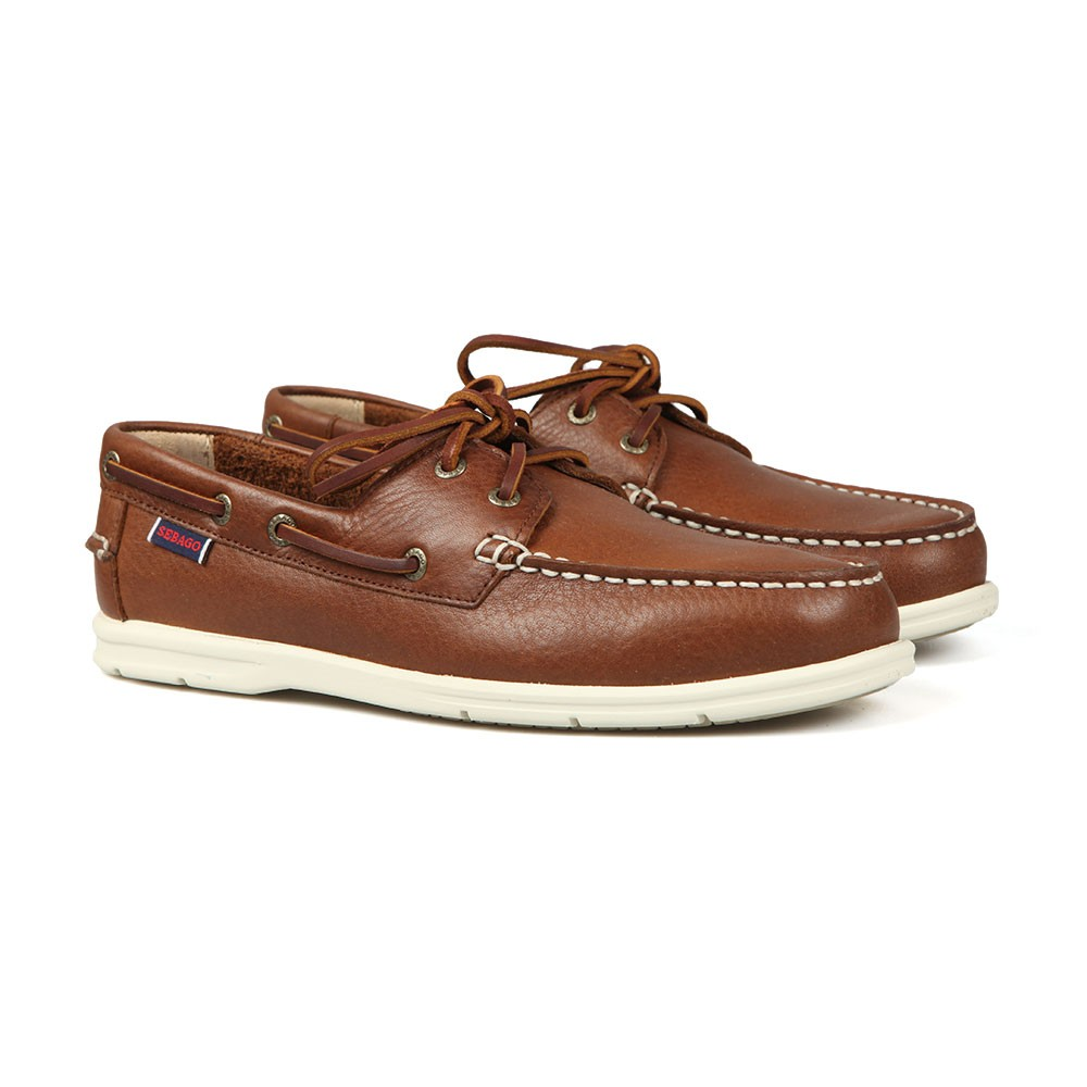 Naples Leather Boat Shoe main image
