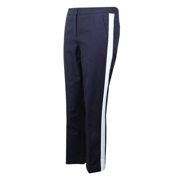 Michael Kors Womens Blue Stripe Panel Woven Pant main image