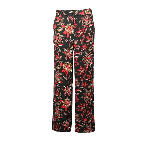 Maison Scotch Womens Blue Tailored Wide Leg Pants