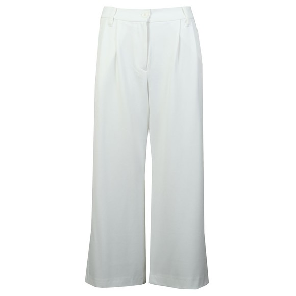 French Connection Womens White Angeline Drape Wide Leg Trouser