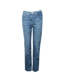 Levi's Womens Blue 724 High Rise Straight Jean
