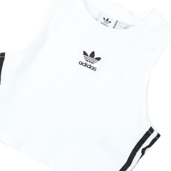 adidas Originals Womens White Crop Tank main image