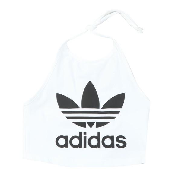 adidas Originals Womens White Trefoil Halter Neck Top main image