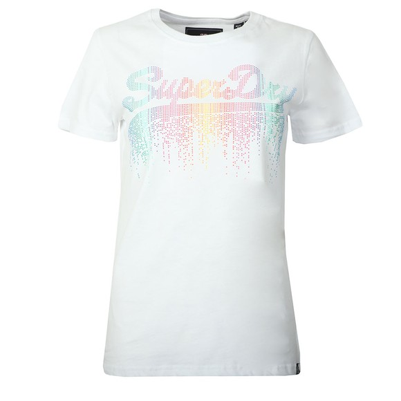 Superdry Womens White Vintage Logo Cascade Entry Tee main image